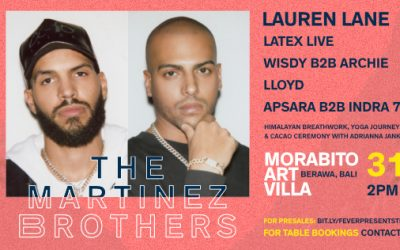 The Martinez Brothers make their Bali debut this Friday