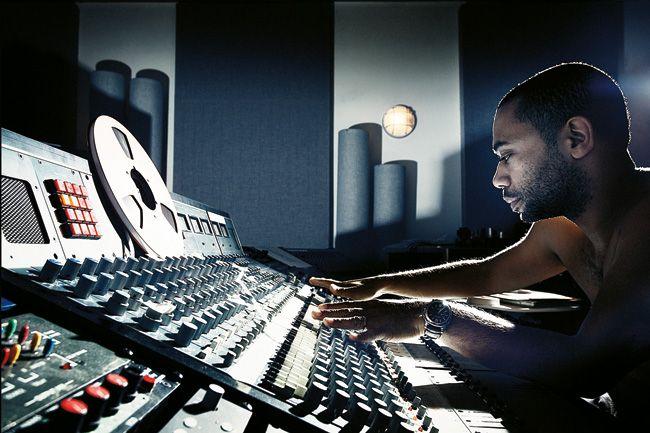 Black house artist Carl Craig in his studio