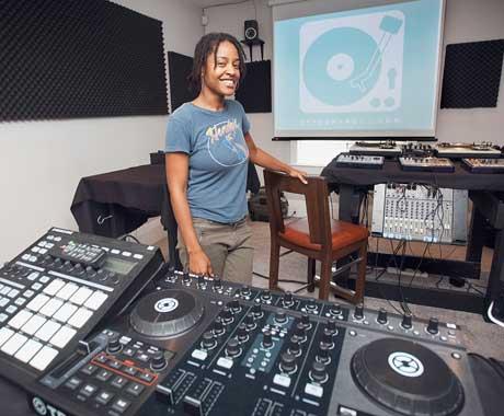 Black female DJ and artist Pursuit Grooves