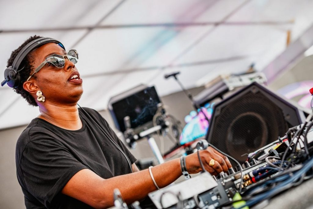 Black female dj and artist Carista
