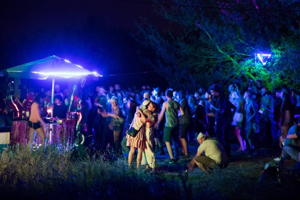 illegal nightlife rave in Berlin