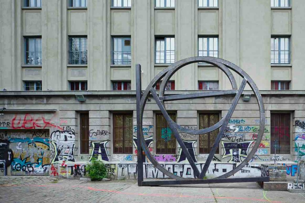 art installation outside Berghain