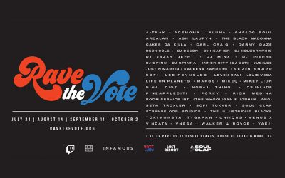 Rave the Vote Goes Live to Encourage US Voter Registration